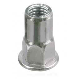 Half Hex Body Rivet Nut (Open End)