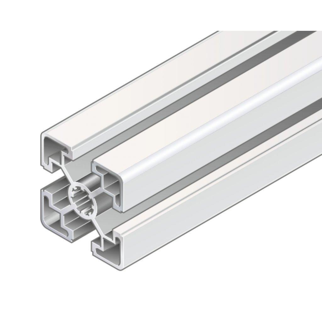 40 x 40mm light aluminium strut profile bosch rexroth choose length. Black Bedroom Furniture Sets. Home Design Ideas