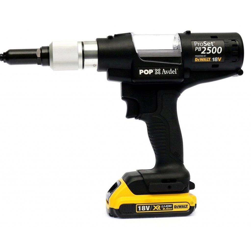 Pop Pb2500 Battery Rivet Tool Avdel Cordless Riveter